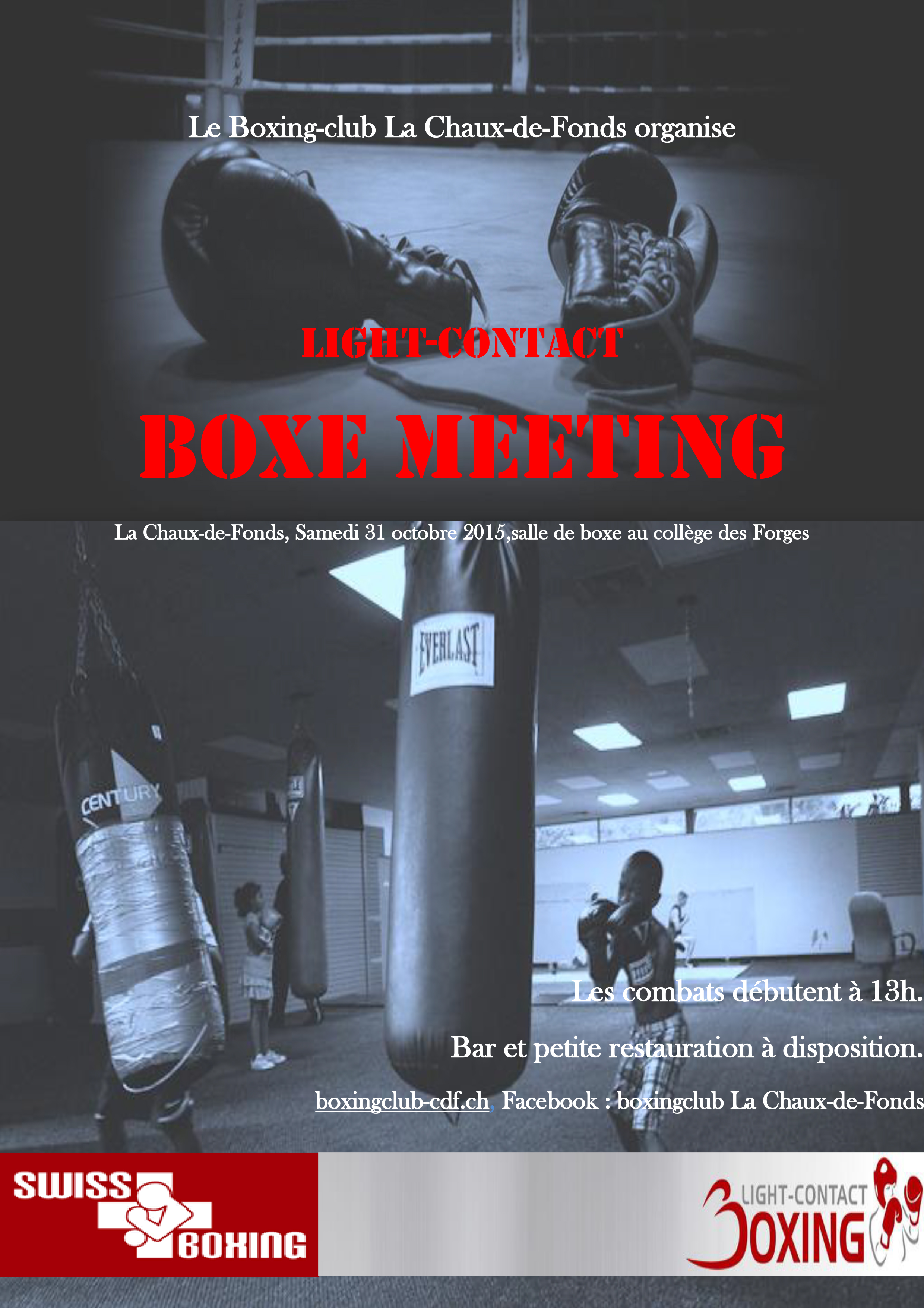 Affiche boxing meeting
